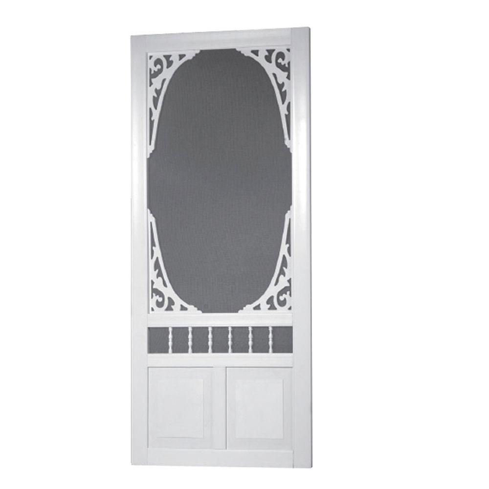 36-inch x 80-inch Georgian Solid Vinyl Screen Door