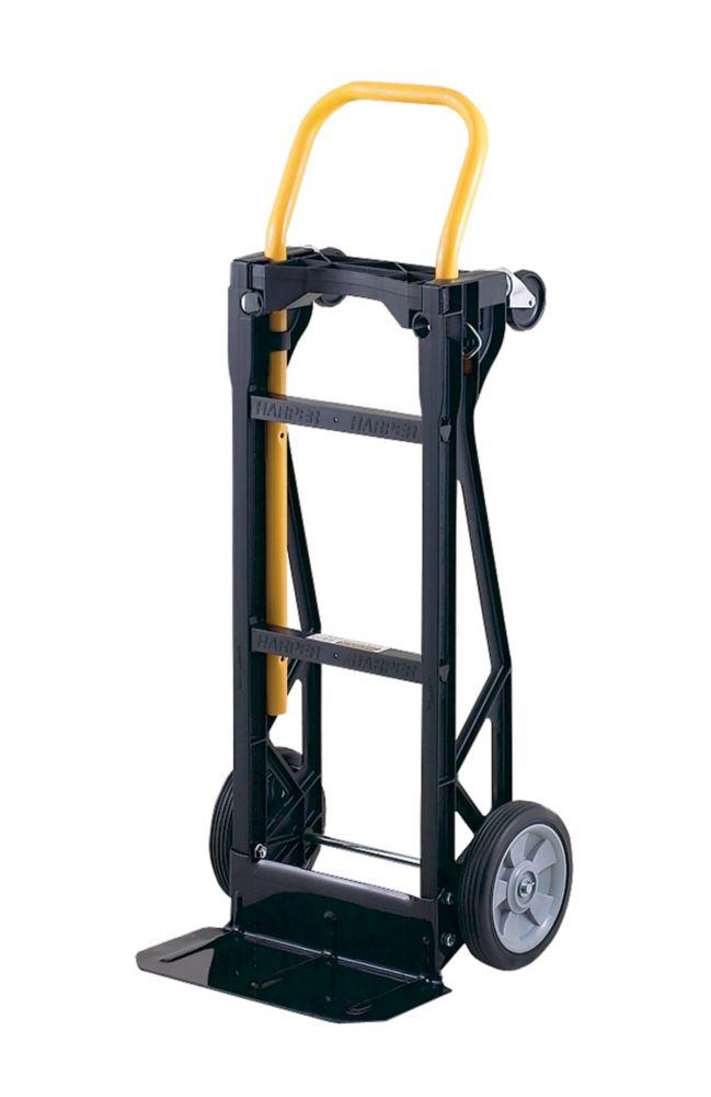 Diable, chariot à plateforme ou incliné à 45 degrés 3 en 1 Steel-Tough(MC) 400 en nylon technique
