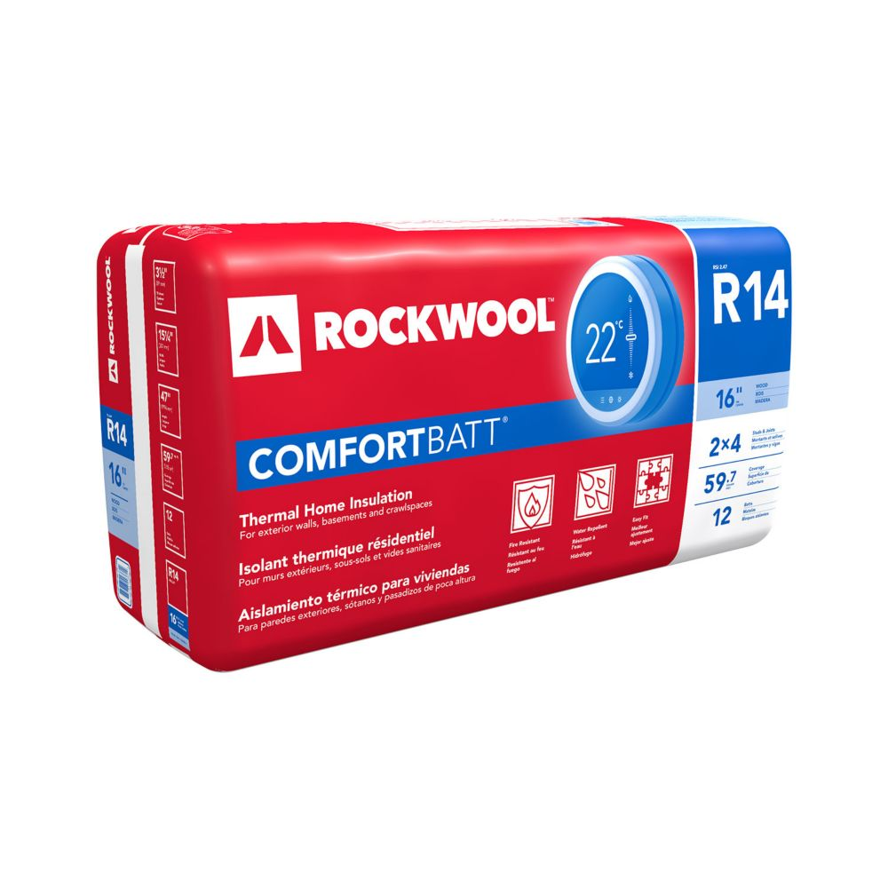 roxul comfortbatt r14 for 2x4 studs 16 in on centre the