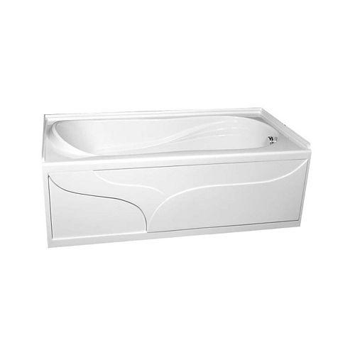 American Standard Plaza Rectangular Freestanding with Right-Hand Drain Acrylic Bathtub in White