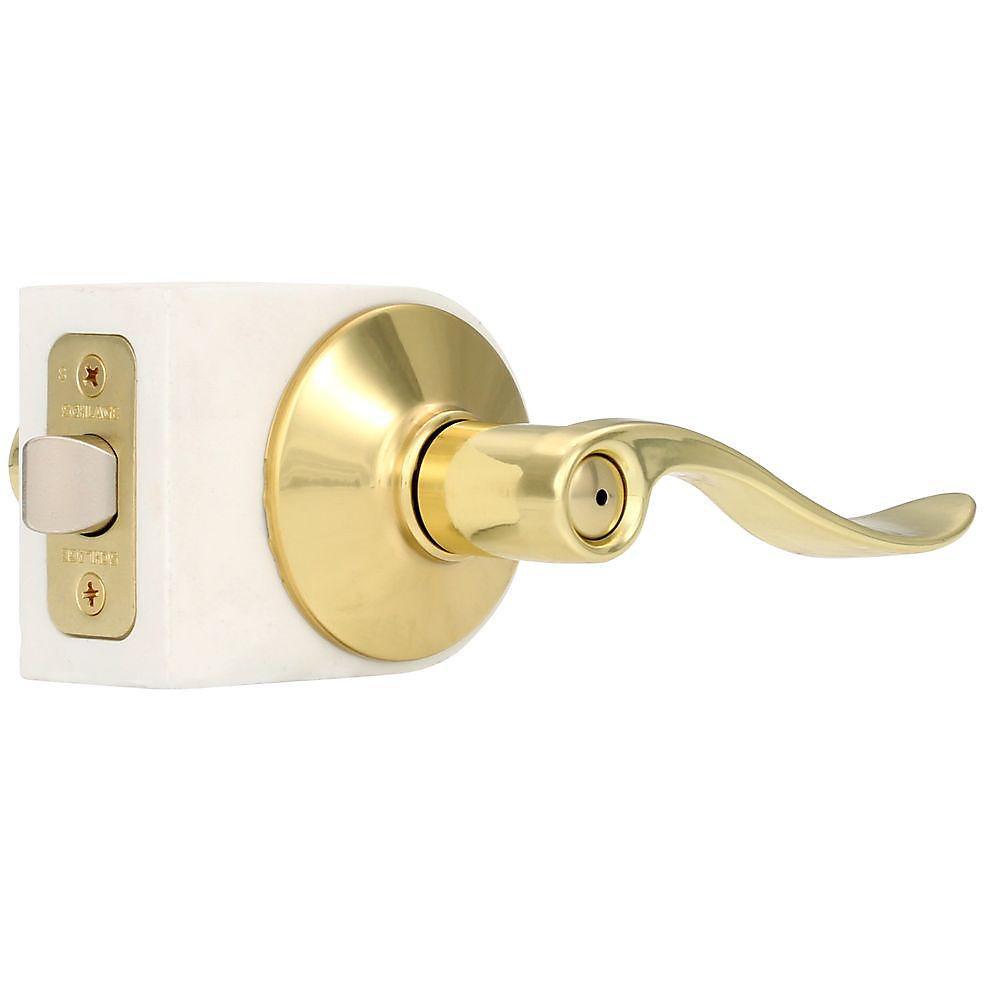 Privacy Lever Accent Bright Brass