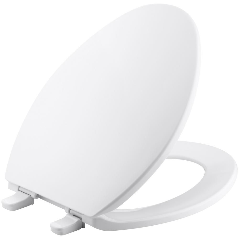KOHLER Brevia Elongated Closed Front Toilet Seat in White