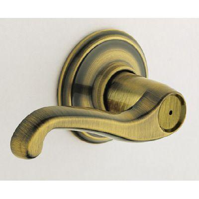 Serrure chambre et salle de bain « Flair » avec levier en laiton antique
