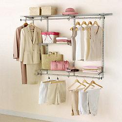 3 ft. to 6 ft. W Customizable Closet Organization Kit