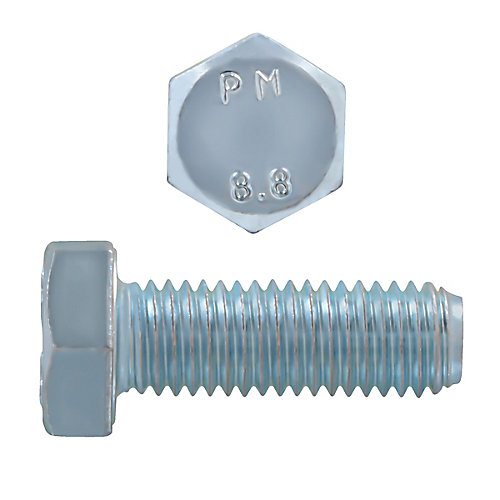 M12-1.75 x 35mm Class 8.8 Metric Hex Cap Screw - DIN 933 - Zinc Plated