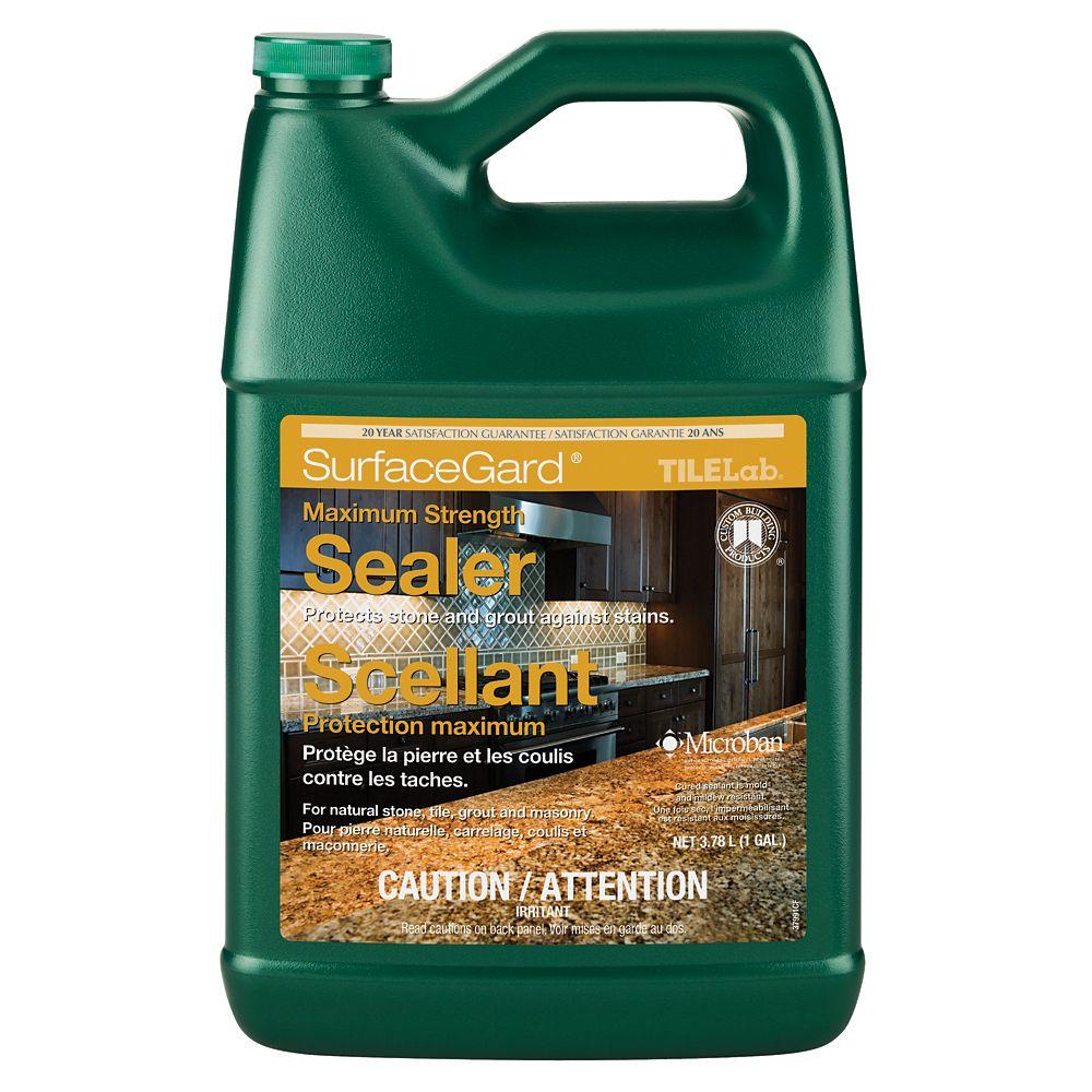 Nettoyant et imperméabilisant pour joints, carrelage et pierre TileLab SurfaceGard � 1 gallon