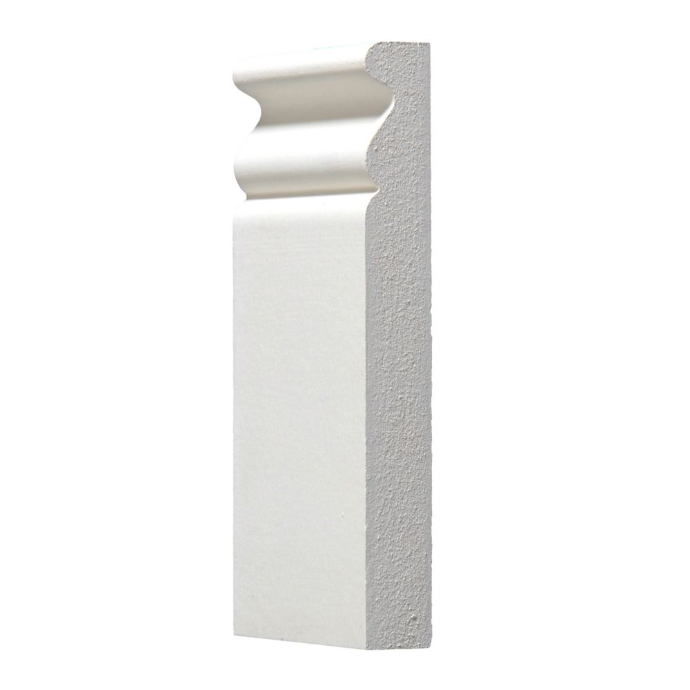 Primed Plinth Block 3/4 In. x 3-3/8 In. x 6 In.