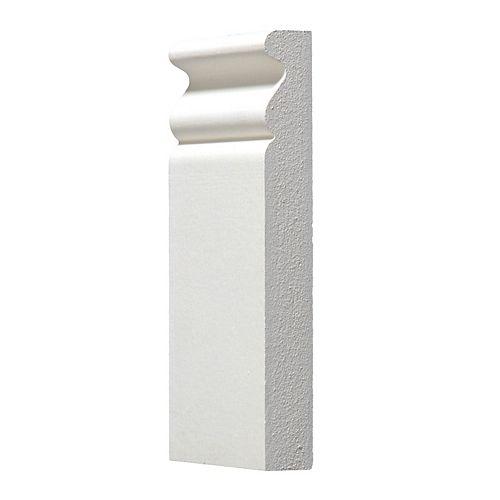 Alexandria Moulding 3/4-inch x 3 3/8-inch x 6-inch MDF Primed Plinth Block