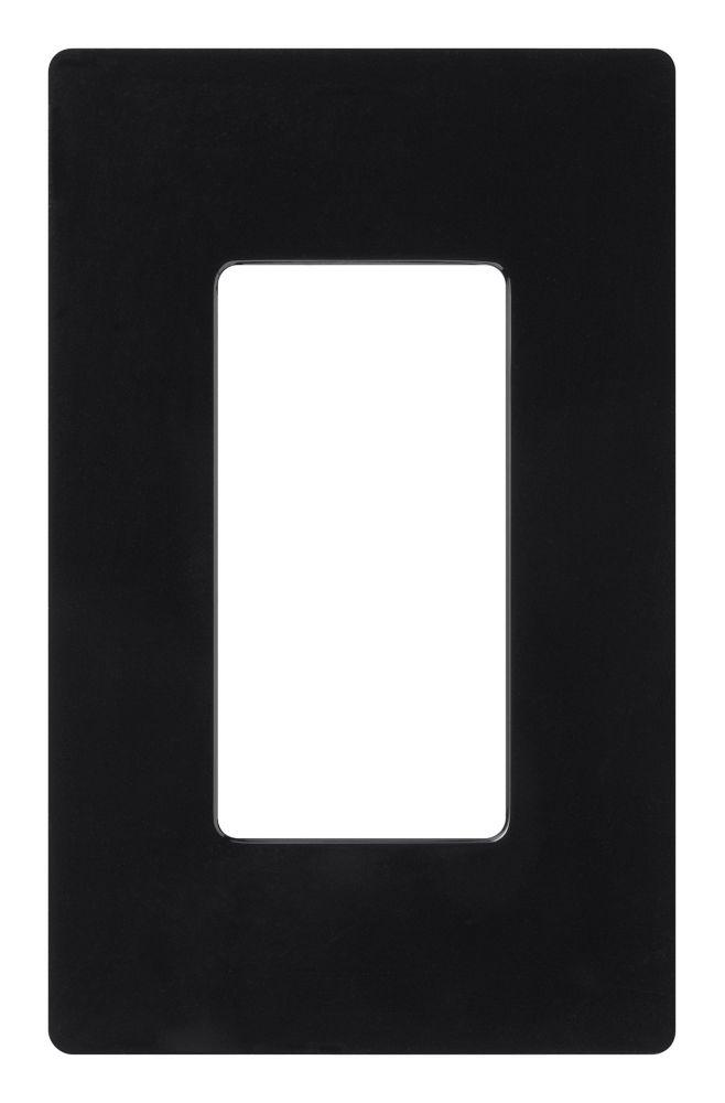 Claro 1-Gang Wallplate, Black