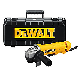 DEWALT 120V 4 1/2-inch Corded Angle Grinder with Quick Change Wheel Release and Case