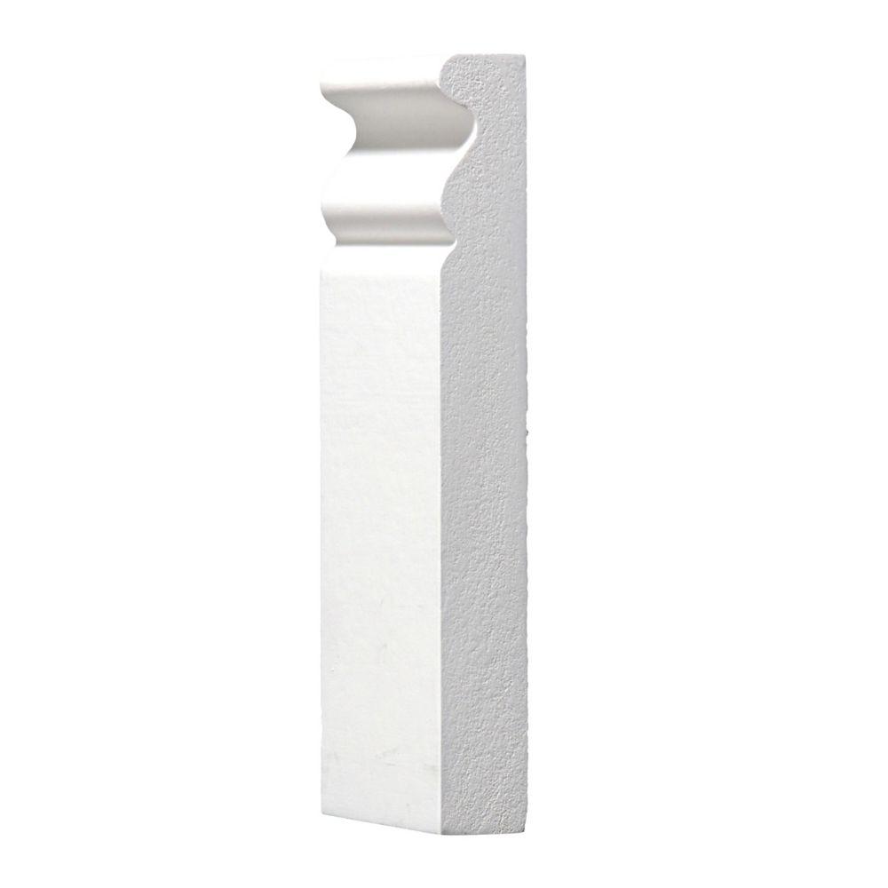 Primed Plinth Block 3/4 In. x 2-1/2 In. x 6 In.
