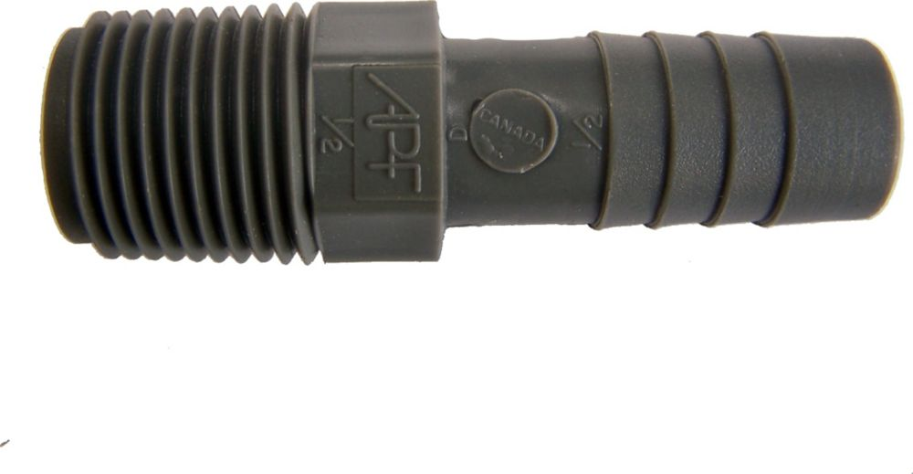 Poly Male Adapter - 1/2 Inch Mpt X 1/2 Inch Insert UPPA-05 in Canada