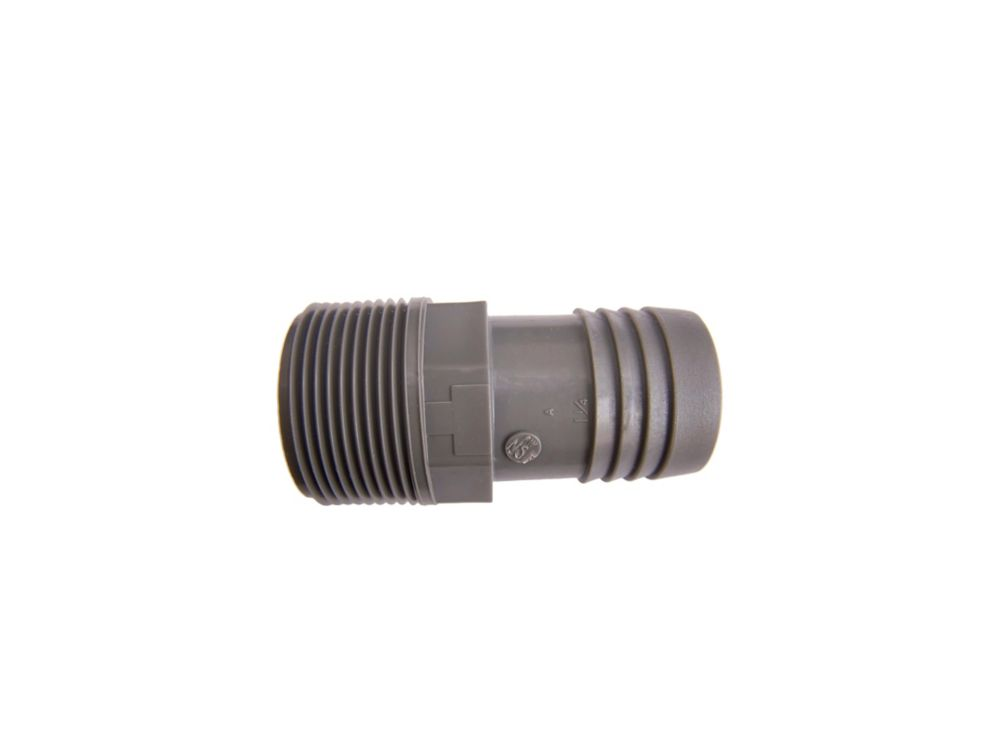 Poly Male Adapter - 1 1/4 Inch Mpt X 1 1/4 Inch Insert