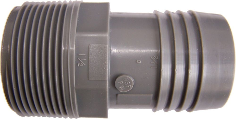 Poly Male Adapter - 1 1/2 Inch Mpt X 1 1/2 Inch Insert