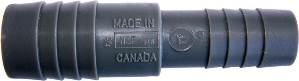 Manchon Réducteur En Poly - 3/4 Pouce Ins X 1/2 Pouce Ins