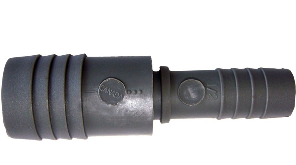 Pro-Connect Poly Reducing Coupling - 1 Inch Insert X 1/2 Inch Reducing Insert