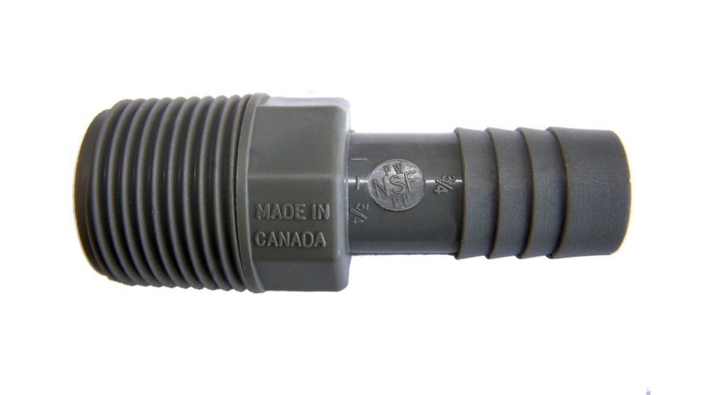 Pro-Connect Poly Reducing Coupling - 1 Inch Insert X 3/4 Inch Reducing Insert