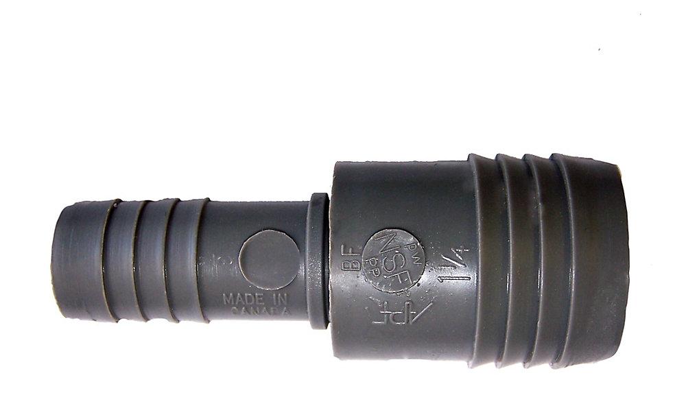 Manchon Réducteur En Poly - 1 1/4 Pouce Ins X 3/4 Pouce Ins