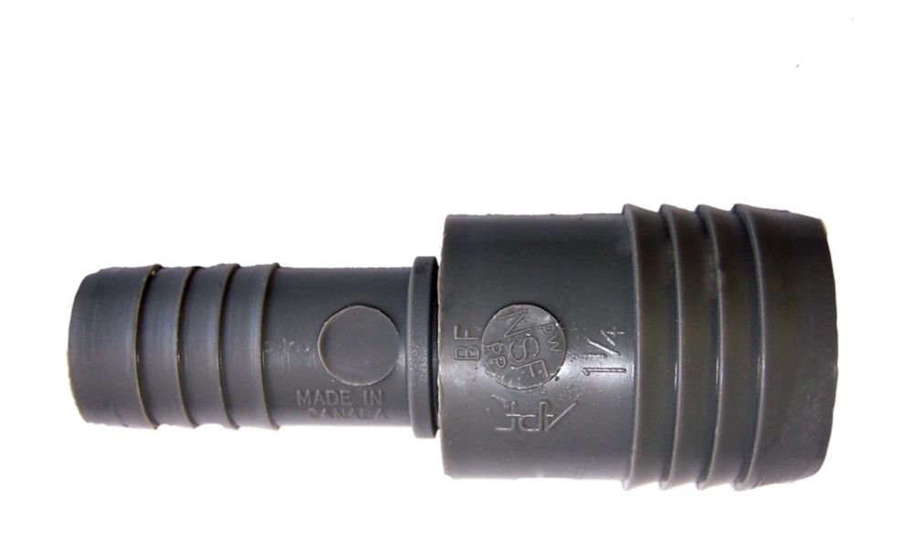 Poly Reducing Coupling - 1 1/4 Inch Insert X 3/4 Inch Reducing Insert