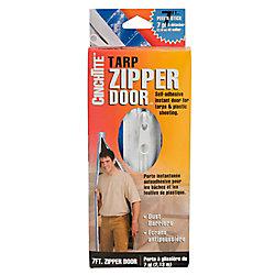 Homax C-inchTite 7-ft. Peel ft. N Stick Tarp Zipper Door