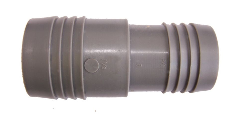 Poly Reducing Coupling - 1 1/2 Inch Insert X 1 1/4 Inch Reducing Insert