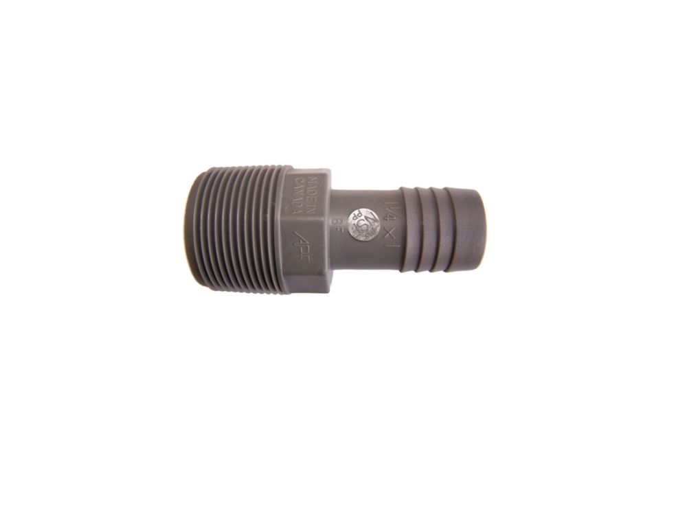 Poly Reducing Male Adapter - 1 1/4 Inch Mpt X 1 Inch Reducing Insert