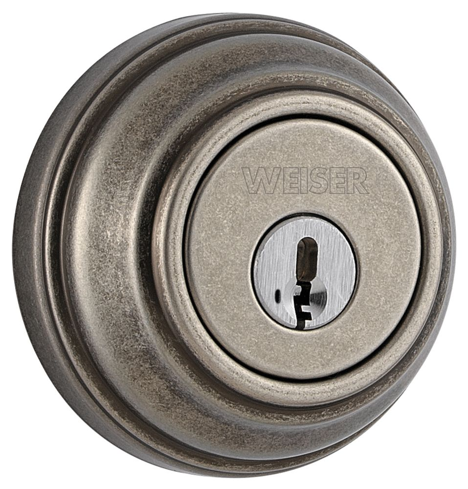 Collections Rustic Pewter Single Cylinder Deadbolt