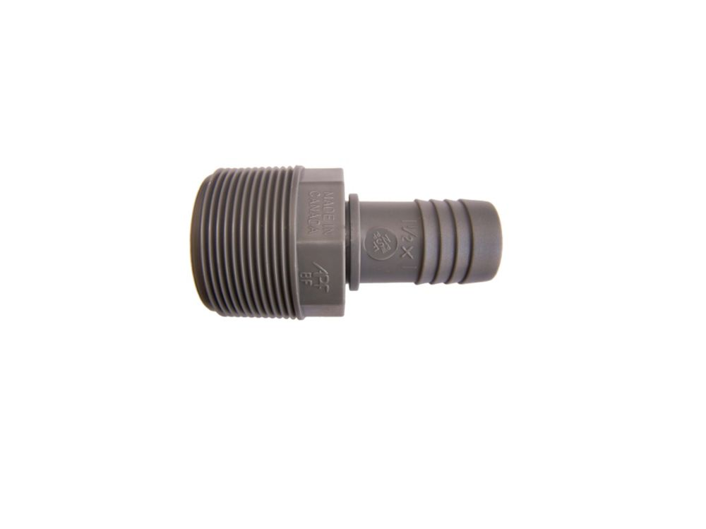 Poly Reducing Male Adapter - 1 1/2 Inch Mpt X 1 Inch Reducing Insert