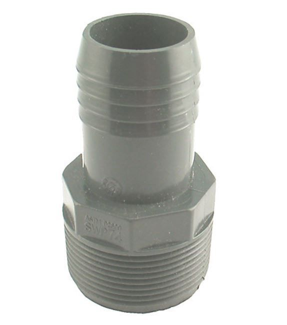 Poly Reducing Male Adapter - 1 1/2 Inch Mpt X 1 1/4 Inch Reducing Insert