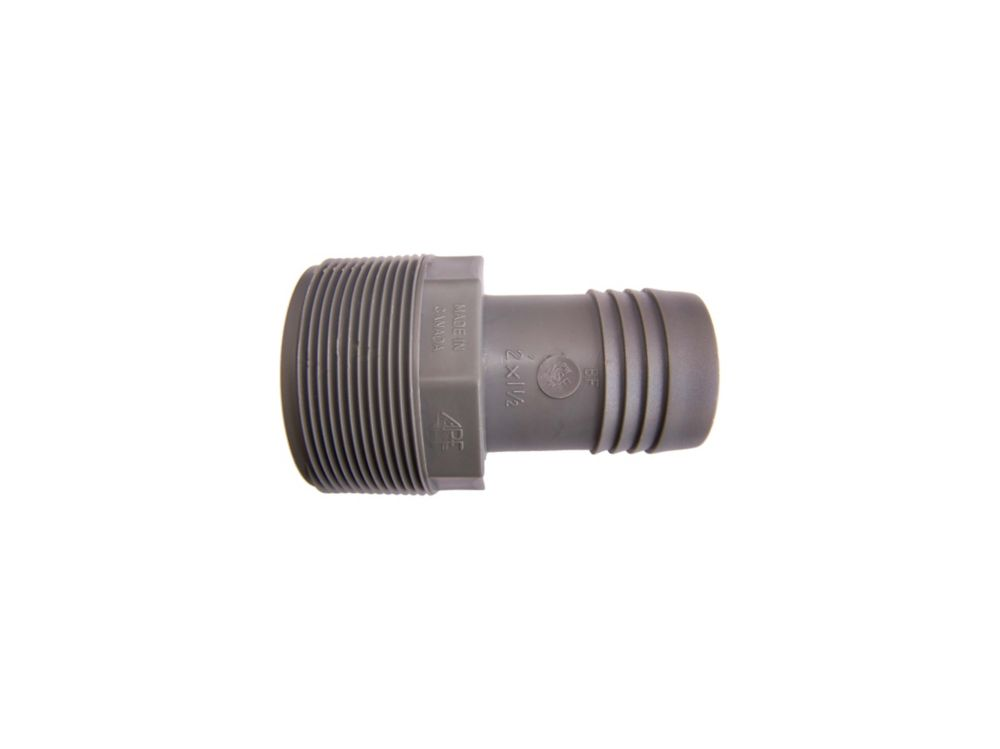 Poly Reducing Male Adapter - 2 Inch Mpt X 1 1/2 Inch Reducing Insert