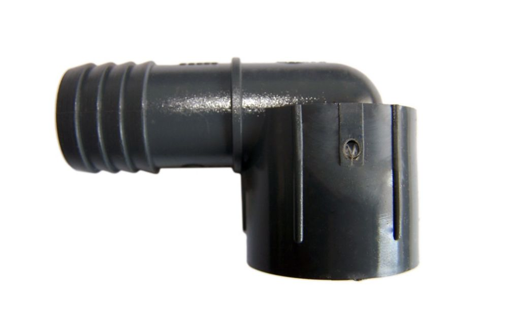 Pvc Female Combination Elbow - 1/2 Inch Insert  X 1/2 Inch Fpt