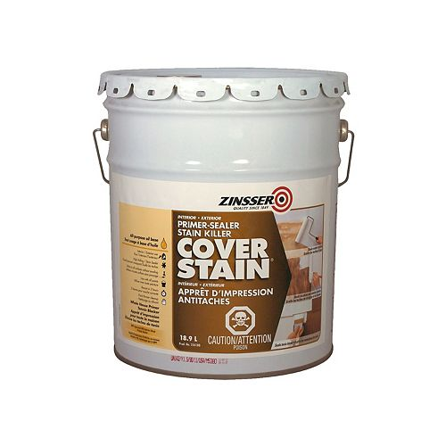 Zinsser Cover Stain Oil Base Primer Sealer and Stain Killer, 18.9L
