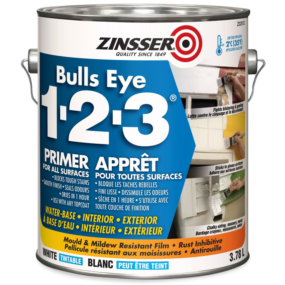 Zinsser Bulls Eye 1-2-3 Water-Base Primer 3.78L