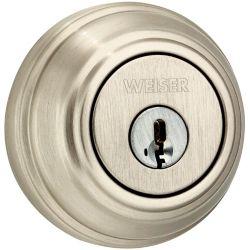 Weiser Collections Satin Nickel Single Cylinder Deadbolt