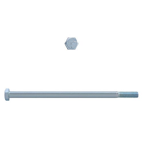 5/16-inch x 6-inch Hex Head Cap Screw - Zinc Plated - Grade 5 - UNC