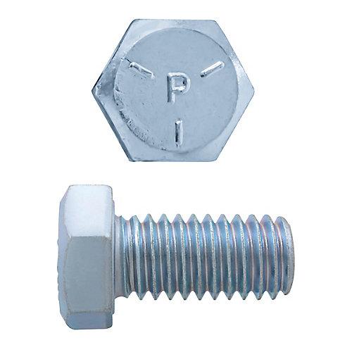 3/8-inch x 3/4-inch Hex Head Cap Screw - Zinc Plated - Grade 5 - UNC