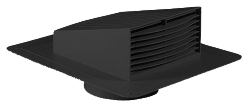 Roof Exhaust Hood 4 Inch Black