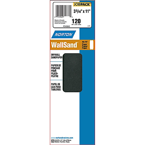Durite Drywall Sanding Paper 120 grit 3-5/16-inch X11-inch   (25-Pack)