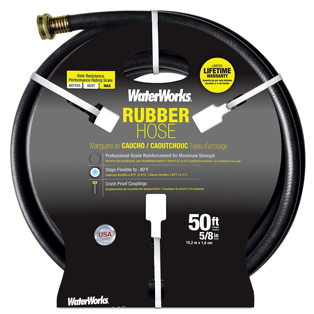 WATERWORKS Rubber Hose � 5/8 In. X 50
