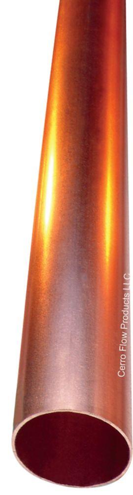 """Tuyau de cuivre type M, 3/4"""" x 6 pieds, longueur"""