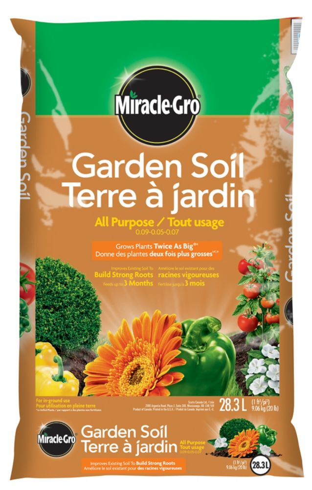 Miracle-Gro Garden Soil Plus for Flowers and Vegetables