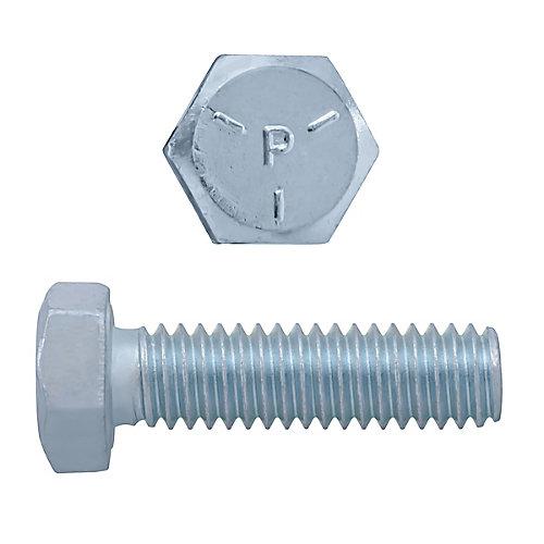 5/16-inch x 1-1/4-inch Hex Head Cap Screw - Zinc Plated - Grade 5 - UNC