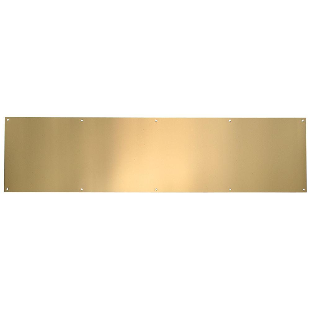 Plaque de bas de porte en laiton poli anti-ternissure - 6 po x 30 po