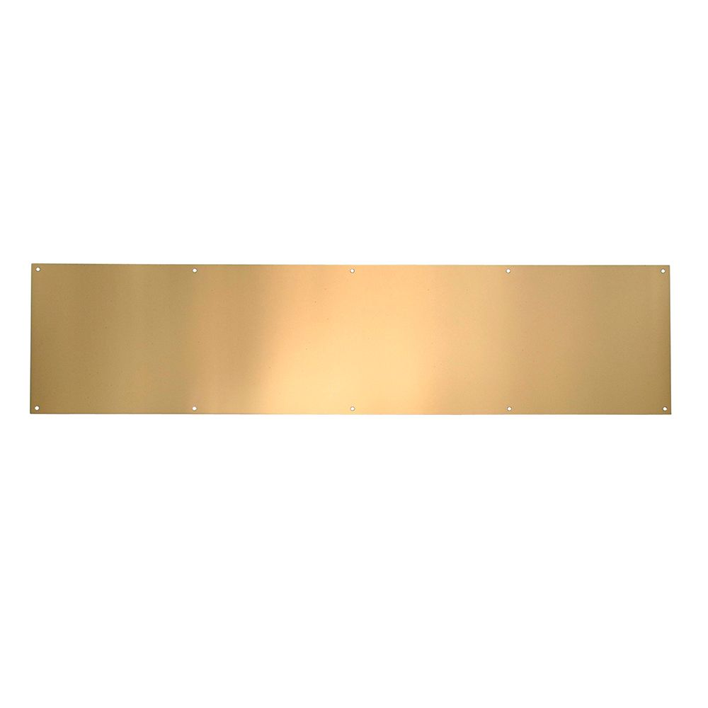 6-inch x 30-inch Polished Brass Anti-Tarnish Kickplate