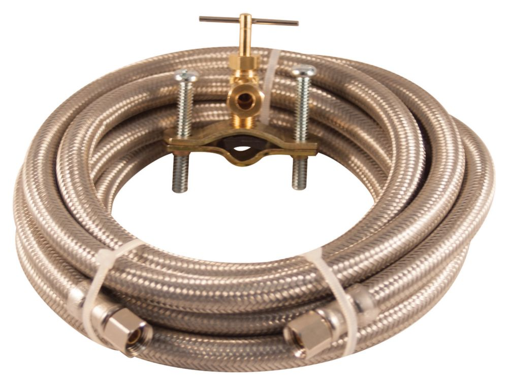 Installation Kit - Ice Maker 10 Ft Braided Stainless Steel