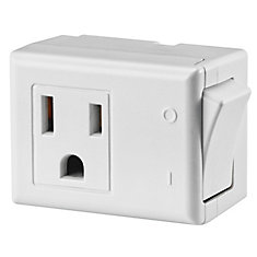 Plug-In Switch, White- Host