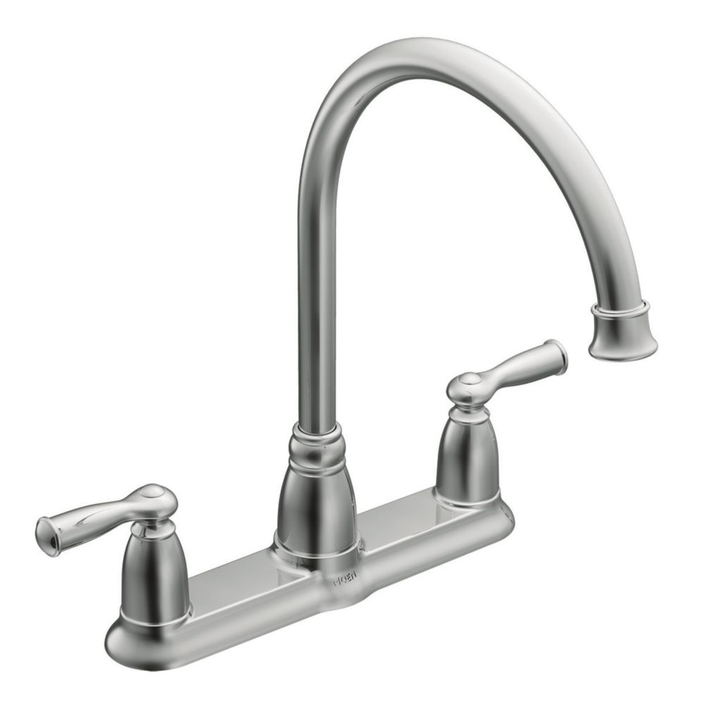 Moen Banbury 2 Handle Kitchen Faucet Chrome Finish The