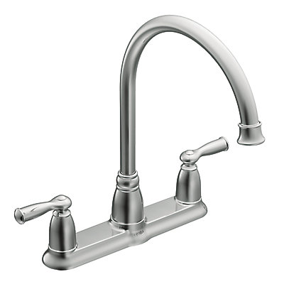 Moen Banbury 2 Handle Kitchen Faucet - Chrome Finish | The Home ...