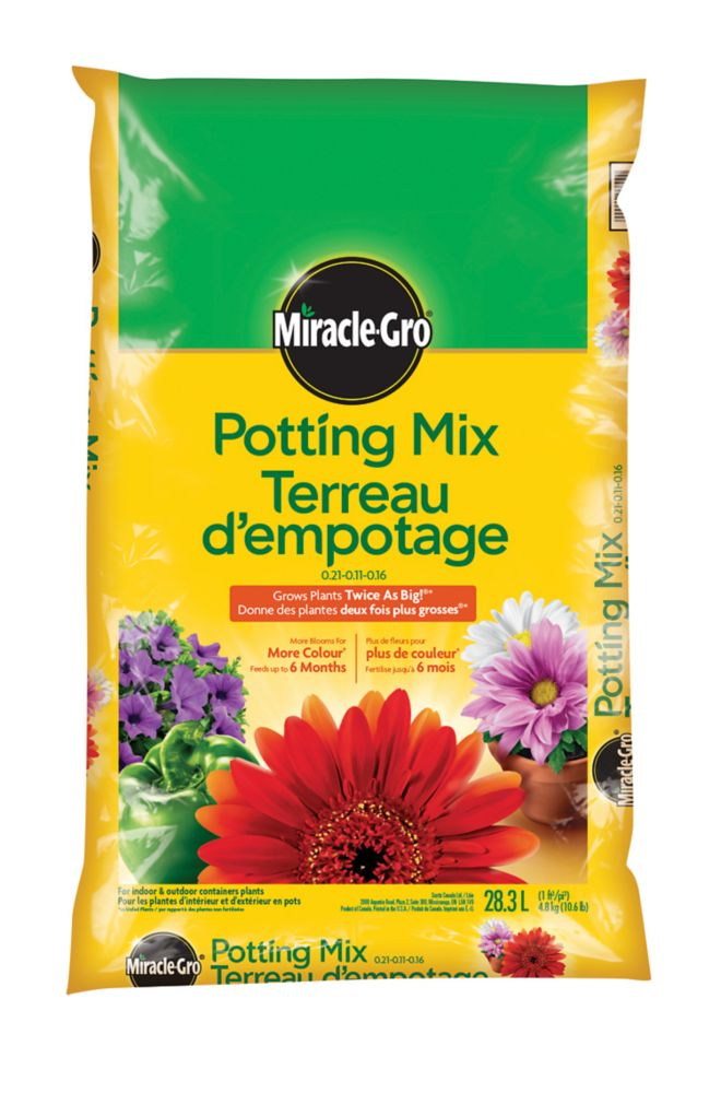 Miracle gro miracle gro premium potting mix 27 5 litre - Home depot miracle gro garden soil ...