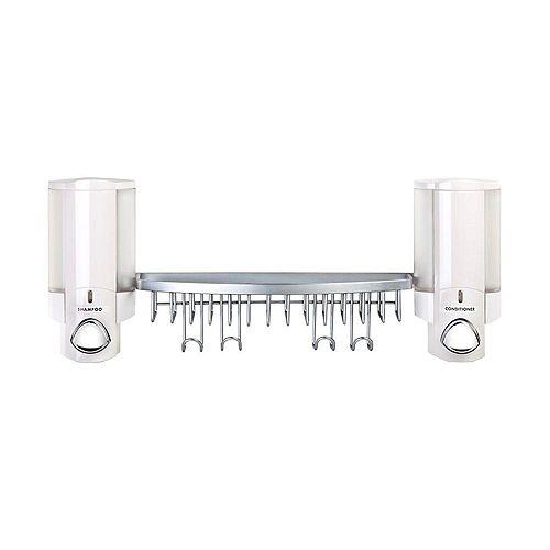 Aviva Dispenser Shower Basket in White